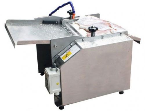 Fish meat separating machine separating flesh from bone for Fish skinner machine